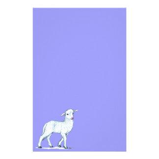Kleines weißes Lamm Briefpapier