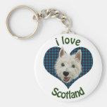 Kleines Westie, i-Liebe Schottland