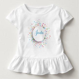 Kleinkind gekräuselter Shirt-Confetti-und Kleinkind T-shirt
