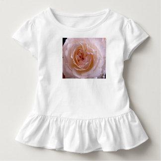 Kleinkind gekräuseltes T-Stück mit rosa Rose Kleinkind T-shirt