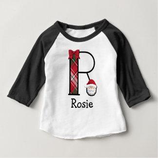 Kleinkind-Mädchen-Sankt-Weihnachten 3/4 Baby T-shirt