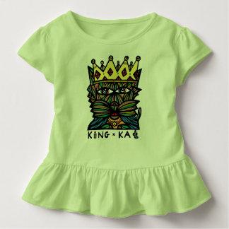 """Kleinkind-Rüsche-T-Stück """"König-Kat"""" Kleinkind T-shirt"""