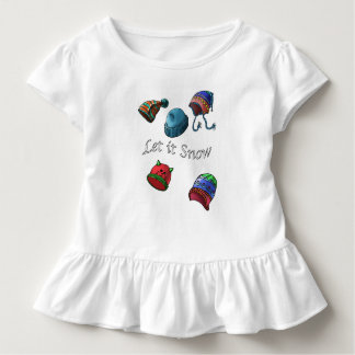 Kleinkind-Rüsche-T-Stück, ließ es schneien Kleinkind T-shirt