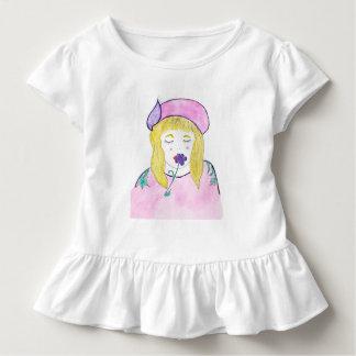 Kleinkind-Rüsche-T-Stück mit kleinem Mädchen Kleinkind T-shirt