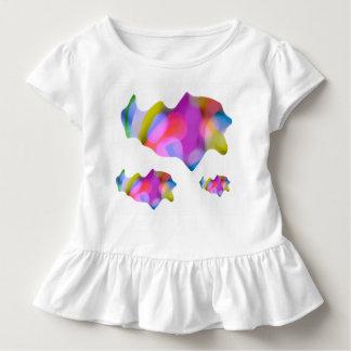 Kleinkind-Rüschet-stück mit 3 Fischen Kleinkind T-shirt