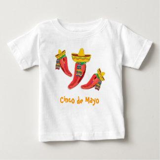 Kleinkind-T-Shirt. Paprika-Paprikaschoten, Cinco Baby T-shirt