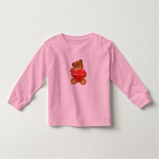 Kleinkind T-Shirt-Valentinsgruß Teddybär Kleinkind T-shirt