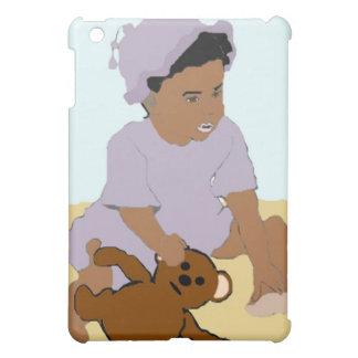 Kleinkind und Teddybär iPad Fall iPad Mini Hülle