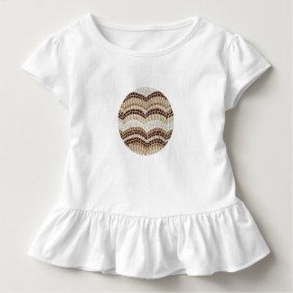 Kleinkindrüsche T - Shirt mit beige Mosaik