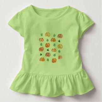 Kleinkindrüsche T - Shirt mit Kürbisen und Blätter