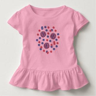 Kleinkindrüsche T - Shirt mit rot-blauen Bällen