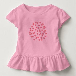 Kleinkindrüsche T - Shirt mit roten Polkapunkten
