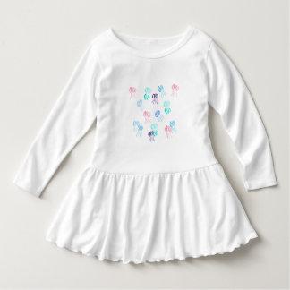 Kleinkindrüschekleid mit Aquarellquallen Kleid