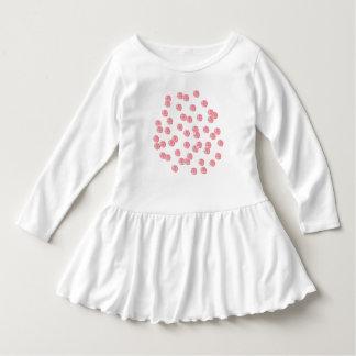 Kleinkindrüschekleid mit roten Tupfen Kleid