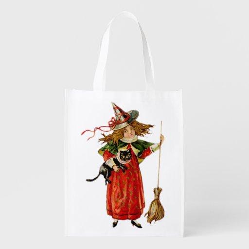 Kleinste Hexe-Einkaufstüte 1 Halloweens Wiederverwendbare Tragetasche