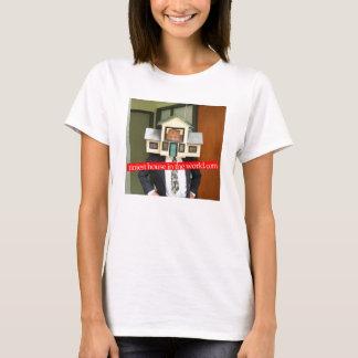 Kleinstes Haus im World.com-Shirt T-Shirt