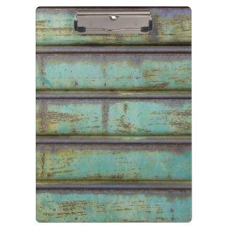 Klemmbrett altes Metall Rolltor