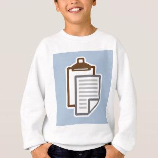 Klemmbrett-Ikonenvektor Sweatshirt