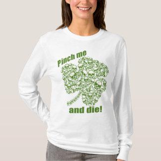 Klemmen Sie mich und die Kleeblatt-Schädel T-Shirt