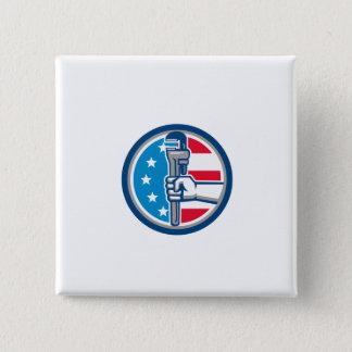 Klempner-Handrohr-Schlüssel USA-Flaggen-aufrechter Quadratischer Button 5,1 Cm