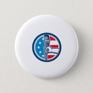Klempner-Handrohr-Schlüssel USA-Flaggen-aufrechter Runder Button 5,1 Cm