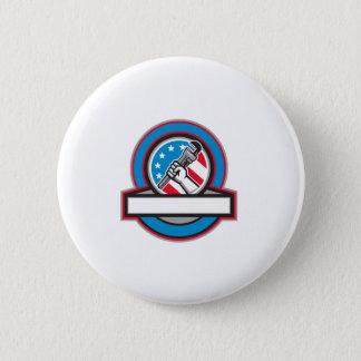 Klempner-Handrohr-Schlüssel USA-Flaggen-Kreis Runder Button 5,7 Cm