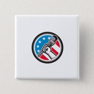 Klempner-Handrohr-Schlüssel USA-Flaggen-Seite Quadratischer Button 5,1 Cm