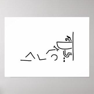 klempner heimwerker wasser poster