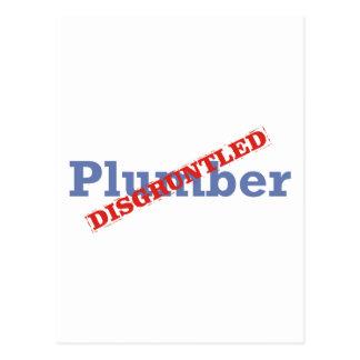 Klempner/verärgertes Postkarte