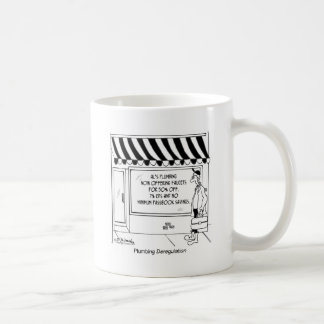 Klempnerarbeit-Deregulierung Kaffeetasse