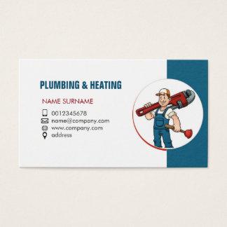 Klempnerarbeit und Heizung. Visitenkarte für