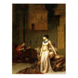 Kleopatra und Caesar Postkarte
