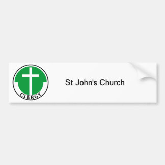 Klerus im Grün Autoaufkleber