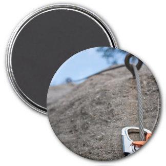 Kletterer Carabiner Nahaufnahme Runder Magnet 7,6 Cm