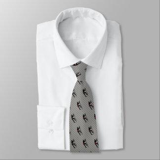 Kletterer-Skalierungs-Gebirgsgesichts-Logo auf Krawatte