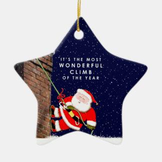 Kletterer Weihnachten Keramik Stern-Ornament