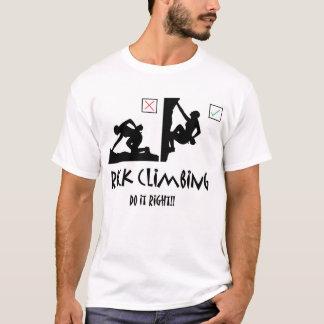Klettern berichtigt es T-Shirt