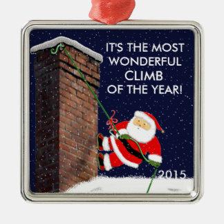 Klettern Sankt Silbernes Ornament