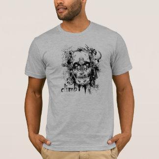 Klettern-Schädel-T-Stück T-Shirt