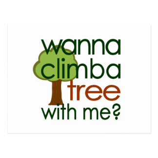 Klettern Sie einen Baum Postkarten