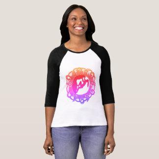 Klettern-Zen-Mädchen T-Shirt