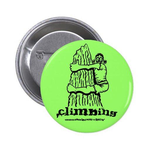 Kletternder lustiger Knopf Buttons