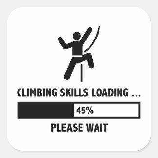 Kletterndes Fähigkeits-Laden Quadrat-Aufkleber