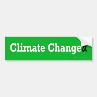 Klima geändert autoaufkleber