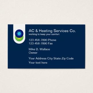 Klimaanlage und Heizung Visitenkarten