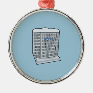 Klimaanlagen-Einheit eiskalte Silbernes Ornament