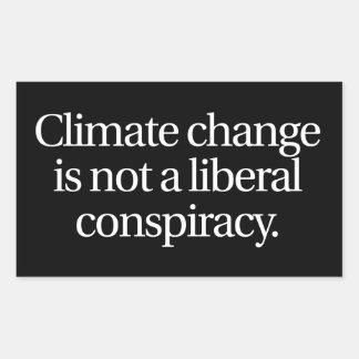 Klimawandel-Aufkleber Rechteckiger Aufkleber