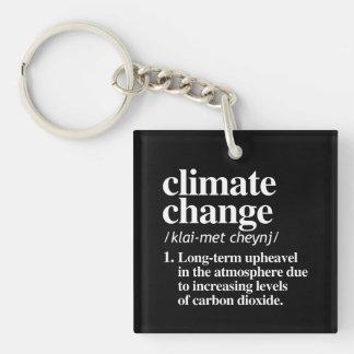 Klimawandel-Definition - langfristige Umwälzung Schlüsselanhänger