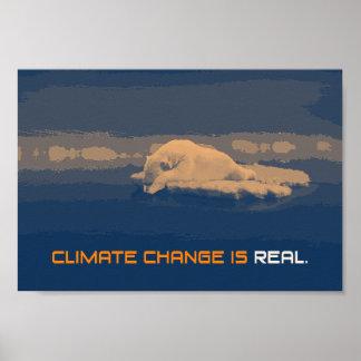 Klimawandel-Eisbär-Plakat Poster