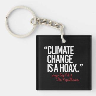 Klimawandel ist ein Hokuspokus sagt das große Öl - Schlüsselanhänger